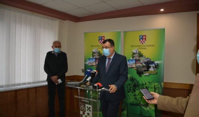 Bjelovarsko-bilogorska županija donira kompletan iznos tekuće pričuve od 250 tisuća kuna za pomoć stradalim područjima u potresu